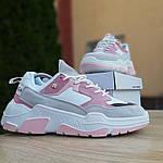 Женские кроссовки Balenciaga Triple S V2 (бело-розовые), фото 8