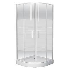 Душевая кабина 90*90*200 см на мелком поддоне стекло Frizek TISZA (AMUR) EGER 599-021-A