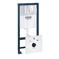 Инсталляционная система для унитаза 3 в 1, овальная кнопка Grohe 38721001 Rapid SL