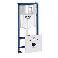 Инсталляционная система для унитаза 1,13 м, 3 в 1, квадратная кнопка Grohe 38772001 Rapid SL