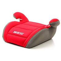 Автокресло кресло бустер детское SPARCO F100K 15-36 кг красно-серое универсальное автомобильное