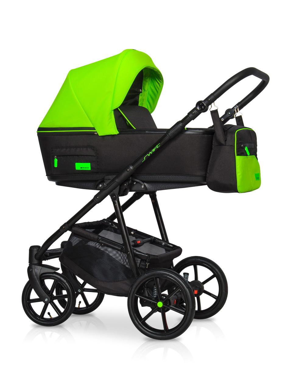 Детская универсальная коляска 3 в 1 Riko Swift Neon 21 Ufo Green