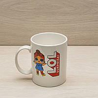 Чашка офисная 350 мл  белая, L.O.L. Surprise