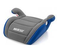 Автокресло кресло бустер детское SPARCO F100K 15-36 кг серо-синее универсальное автомобильное