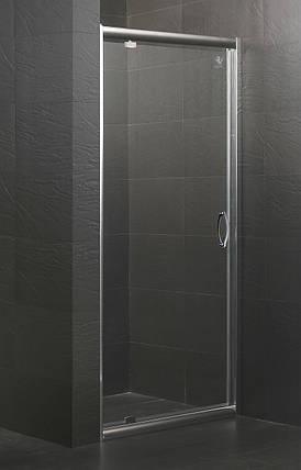 Дверь в нишу распашная 90*185 хром прозрачная EGER 599-150-90, фото 2
