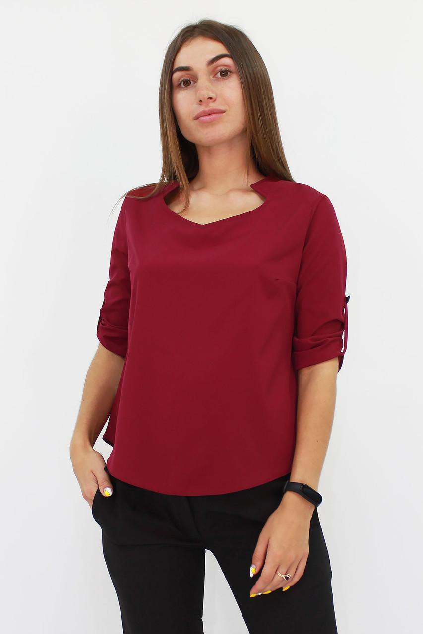 S, M, L, XL / Стильна жіноча блузка Rina, марсала