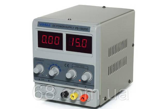 Лабораторный блок питания для ремонта телефонов 1502DD трансформаторный Блок живлення лабораторний