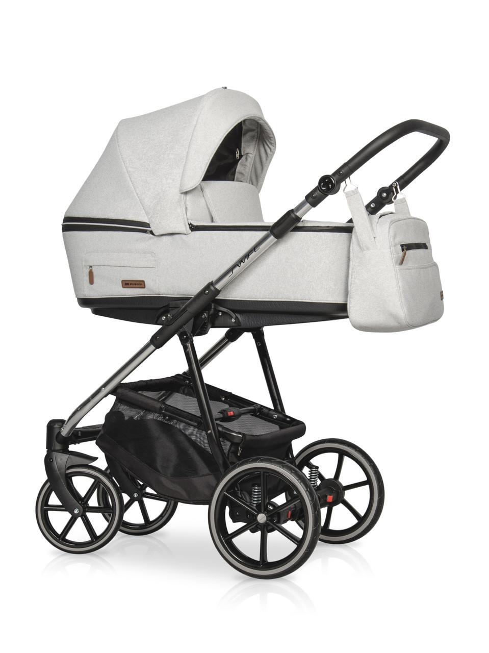 Детская универсальная коляска 3 в 1 Riko Swift Premium 14 Platinum