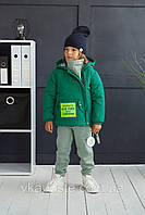 "Курточка весенняя ""Brooklyn"" зеленая Размер 98-104, фото 1"