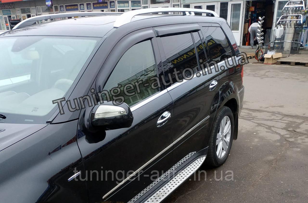Ветровики, дефлекторы окон Mercedes GL X-164 2006-2012 (Hic)