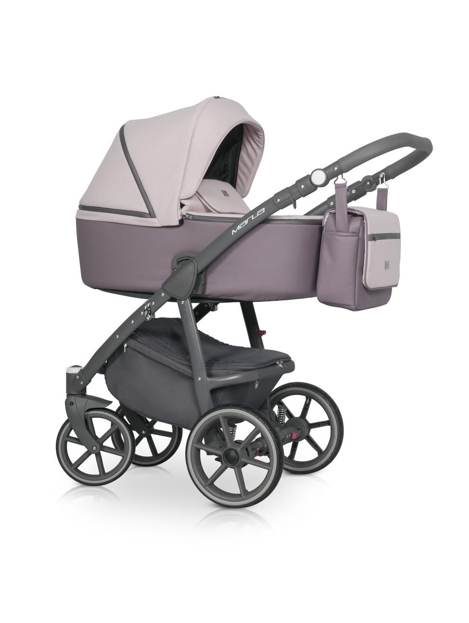 Детская универсальная коляска 3 в 1 Riko Marla 04 Dirty Pink