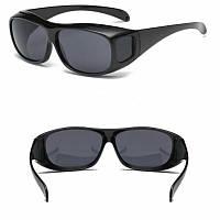 Антибликовые очки для водителей HD Vision Wrap Arounds 2 шт (для дня и ночи), очки антифары, водительские очки, фото 1