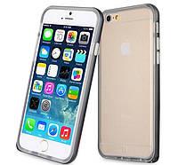 Чехлы U-Like Бампер Metalic Slim для iPhone 6 Plus Black (8327)