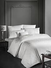 Комплект постельного белья сатин Moonlight first choice евро размер Mirabel Krem