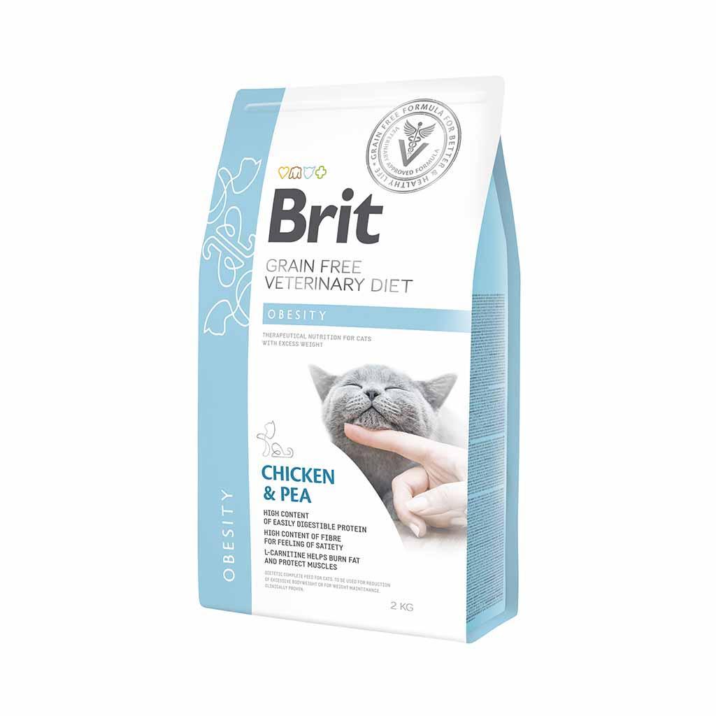 Корм для котів Brit Care Veterinary Diet Obesity (при зайвій вазі) 2кг