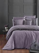 Комплект постельного белья сатин Moonlight first choice евро размер Mona leylak