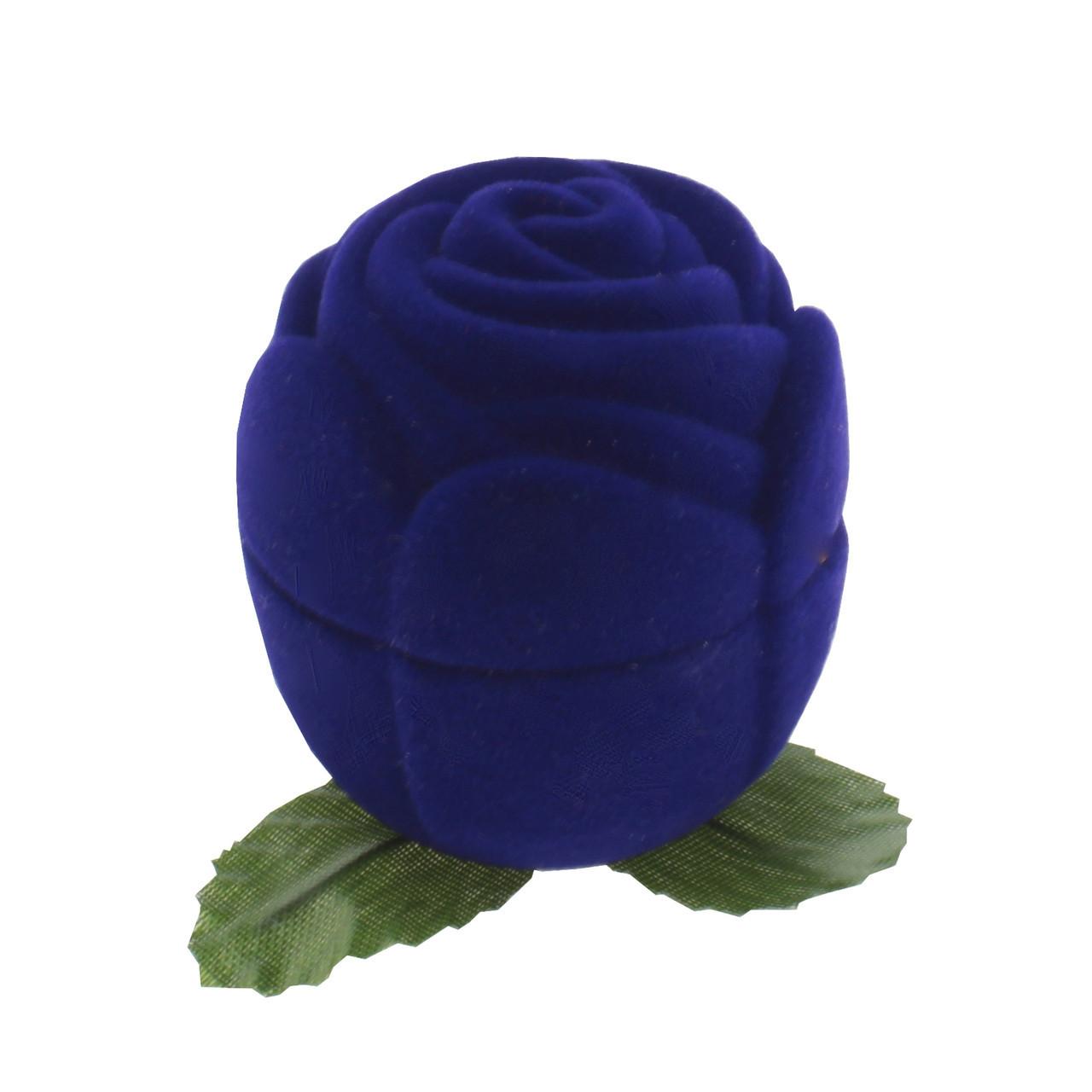 """Футляр для кольца """"Роза маленькая"""" синий"""