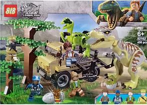 Конструктор 82162 Атака Тираннозавра и Раптора. Мир Юрского периода (аналог Jurassic World), фото 2
