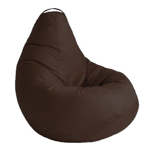Кресло мешок СОФТЛЕНД Груша стандартный взрослый XL 120х90 см Коричневый (SFLD40)