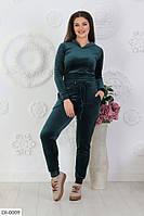 Мягкий велюровый спортивный костюм размеры 50-56 арт 499