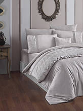Комплект постельного белья сатин Moonlight first choice евро размер Stella Sampanya