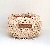 Декоративная корзинка для интерьера handmade (узор ротанг)