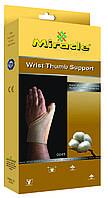 Ортез на лучезапястный сустав и суставы большого пальца с ребром жесткости, Miracle код 0045