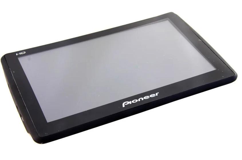 Автомобильный GPS навигатор Pioneer 702 с диагональю 7 дюймов | FM-трансмиттер
