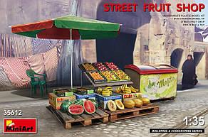 Уличный прилавок с фруктами. Сборная модель в масштабе 1/35. MINIART 35612