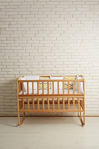 Кровать Амели Натуральный цвет (Откидной Бортик) Гойдалка