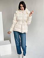 Женская зимняя куртка белая, фото 1