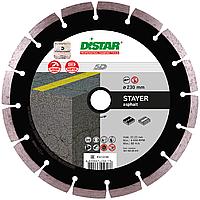 Круг алмазный Distar Stayer 230 мм сегментный диск для резки асфальта на УШМ (14315005017)