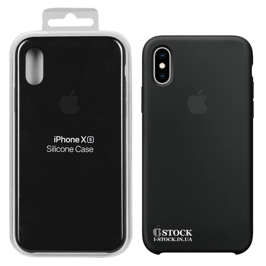 Чехол Apple Silicone Case Black для iPhone XS (MRW72ZM/A)