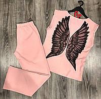 Пижама штаны и футболка крылья ангела.