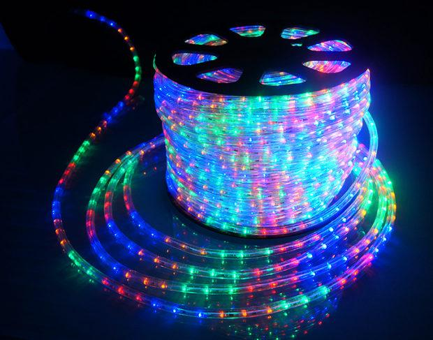Стрічка LED на 220V 6W/m RGBY мультіколор №12/6 120Led