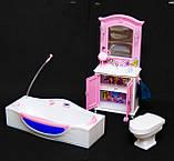 Мебель для кукол Барби. Глория Gloria для кукол. Ванная комната, фото 5
