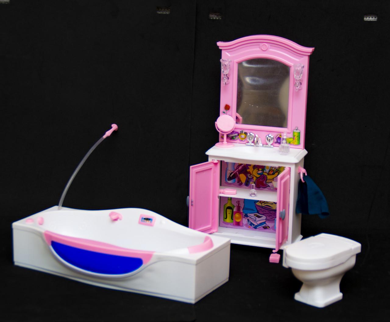 Мебель для кукол Барби. Глория Gloria для кукол. Ванная комната