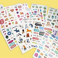 Стикерпак - набор стикер листов (15 штук) MriyTaDiy