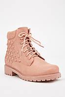Шикарные розовые женские ботинки. Размеры 36, 37, 38, 39, 40, 41