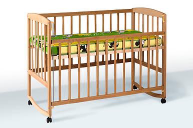 Кровать Амели Натуральный цвет  Гойдалка