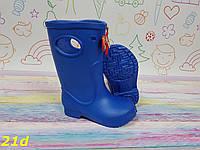 Детские резиновые сапоги непромокаемые голубые, фото 1