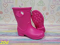 Детские резиновые сапоги непромокаемые розовые, фото 1