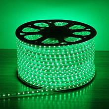 Лента LED светодиодная на 220V зеленая 4W/m влагозащита IP65 №10/5 120Led