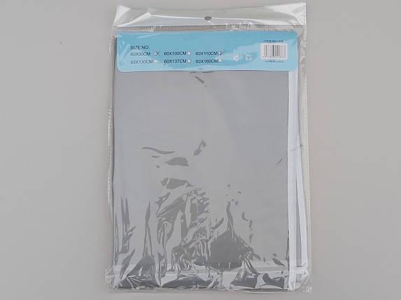 Чехол для хранения одежды плащевка серого цвета. Размер 60х110 cм, фото 2