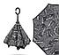 Ветрозащитный зонт Up-Brella   антизонт   зонт обратного сложения   зонт наоборот (Газета), фото 2