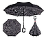 Ветрозащитный зонт Up-Brella   антизонт   зонт обратного сложения   зонт наоборот (Газета), фото 4