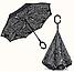 Ветрозащитный зонт Up-Brella   антизонт   зонт обратного сложения   зонт наоборот (Газета), фото 8