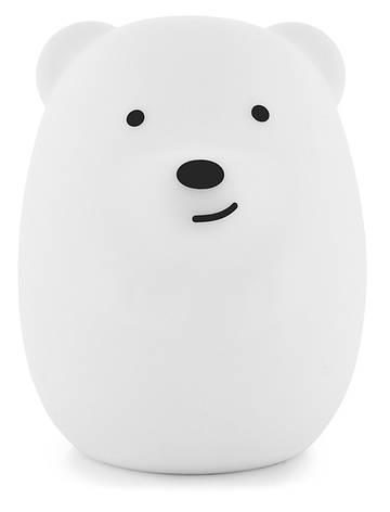 Силіконовий дитячий нічник Click Нічні звірятка 11 см Ведмідь (CLK-G01201), фото 2