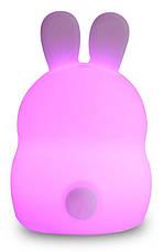 Светильник-ночник детский силиконовый Click Ночные зверушки 14 см Зайчик (CLK-G01211), фото 3