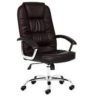 Офисное кресло компьютерное NEO9947 мягкое коричневое (офісне комп'ютерне крісло для дома)